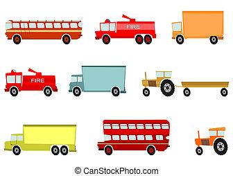Cartoon vehicles - Cartoon trucks and other heavy vehicles