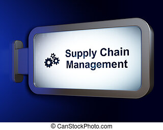 Marketing concept: Supply Chain Management and Gears on...