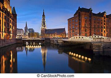 Hamburg-, Speicherstadt