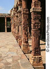 Qutb Minar, Delhi, India - Qutb Minar ruins in the city of...