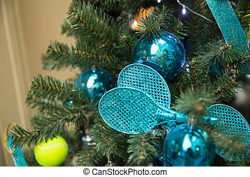 tennis tree - Christamas tree decoration with tennis rackets...