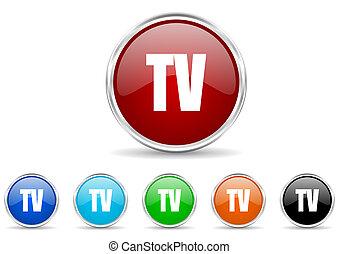 tv icon set