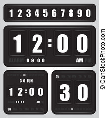 Digital retro clock and calendar