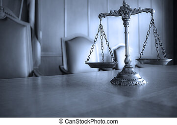 Decorative Scales of Justice - Symbol of law and justice,...