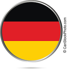 Germany button flag sign or badge for website. The colors of...