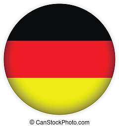 Germany button flag sign or badge for website.
