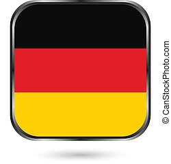 Germany button flag sign or badge for website The colors of...