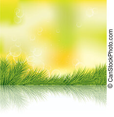 summer green - abstract sumer background with green grass