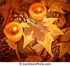 Thanksgiving day decoration, beautiful natural decor for...
