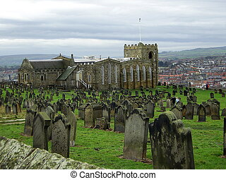 Saint Marys Church,Whitby - Saint Marys church and graveyard...