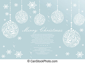 Abstract Christmas ball background