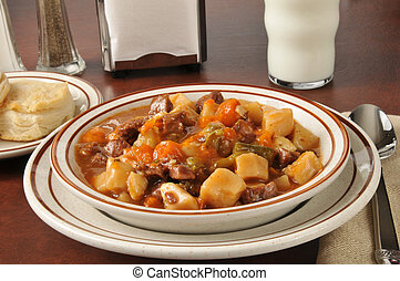 Pot roast soup - Roast beef and vegetable soup with dinner...