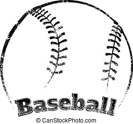 Grunge-style Baseball Design - Grunge styled baseball the...