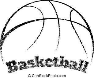 Grunge-style Basketball Design - Grunge styled basketball...
