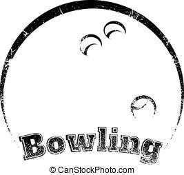 Grunge-style Bowling Design