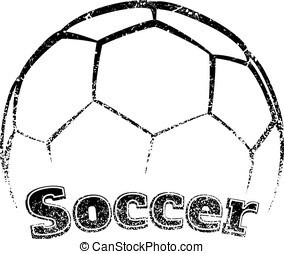 Grunge-style Soccer Design - Grunge styled soccer the word...