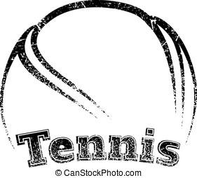 Grunge-style Tennis Design