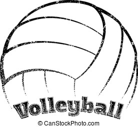 Grunge-style Volleyball Design