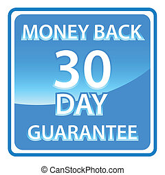 30 days money back guarantee label Vector illustration