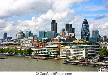 Sunny London landscape