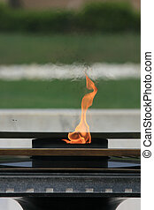 Eternal Flame - Raj Ghat, Delhi, India - Raj Ghat - Mahatma...