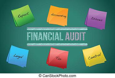 financial audit diagram illustration design