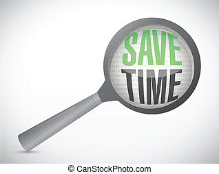 save time magnify review illustration design