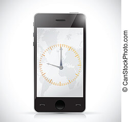 phone and watch. illustration design