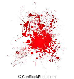 bloody splat - Inky blood splat with a red abstract shape