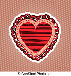 heart design over lineal background vector illustration