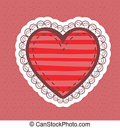 heart design over dotted  background vector illustration