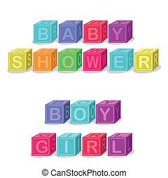 baby shower design over white background vector illustration...