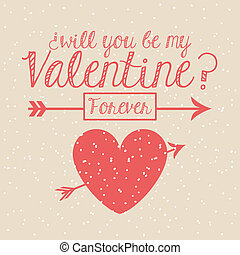 valentines day over pink background vector illustration