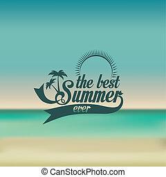 summer design - summer design over blue background vector...