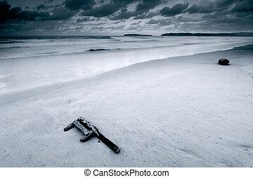 Deserted beach, Pedreña, Cantabria (Spain)
