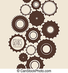 gears design - gears skin over pink background vector...