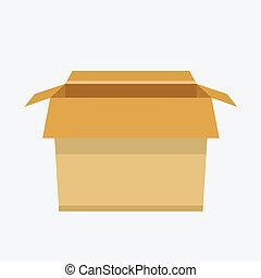 Vector Carton Box Icon