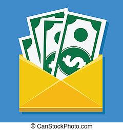 Vector Cash in Envelope Icon