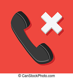 Vector Missed Call Icon