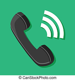 Vector Ringing Phone Icon