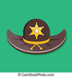 Vector Sheriff Hat Icon