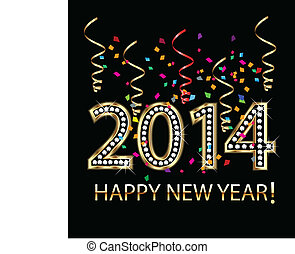 2014 Happy celebration party background