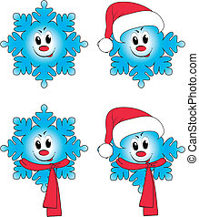 4 snowflake in animation interpreta - 4 elements of...