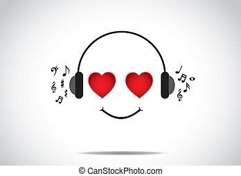 love music enjoying person smile - young happy persion...