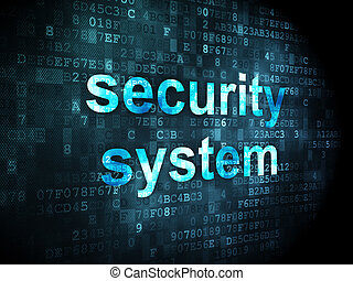 Security concept: Security System on digital background -...