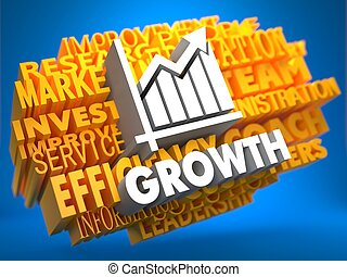 Growth. Wordcloud Concept.