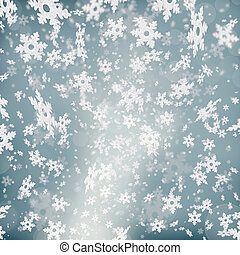 Abstract background with snowflakes - Shimmering christmas...