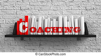 Coaching. Education Concept. - Coaching - Red Inscription on...