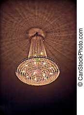 A chandelier Also known as quot;jhoomarquot; in Hindi - A...