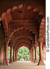 Red Fort, Delhi, India - Red Fort in Delhi City capital of...